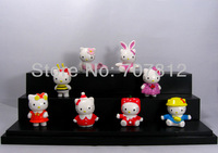 cute hello kitty  Cartoon Figure Toys mermaid  cosplay anime  figures 8cs/set  action figure  free shipping