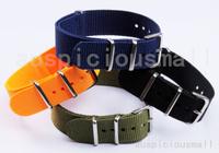 1Pcs Free Shipping Watch Band 20MM Nylon Waterproof Watchbands Blue/Black/Army Green/Orange Color Watchband