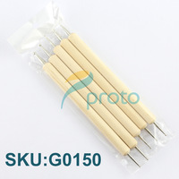 Freeshipping- 5PCS 2-way Nail Art Dotting Tool with Wood Handle  for Rhinestone SKU:G0150XX