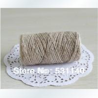 Wholesale 12 pieces/Lot(3mm,52M) A grade DIY Natural Hemp Rope,Flax Rope,Jute Cord,Hemp Twine,kraft string,Hang tag jute string