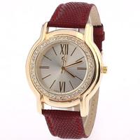 Fashionable wide metal rhinestone bracelet watches, appear elegant women wrist watch, quartz watch, free drop shipping