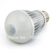 FREE DHL! Epistar 6W SMD5630 12LED 540lm AC85-265V Aluminum+PC 2800-7000K Indoor E27/B22 PIR LED Sensor Bulb Light