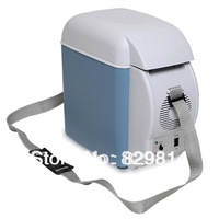 Free shipping 7.5l Auto portable colored mini car refrigerator freezer  well-being of dual-use car freezer