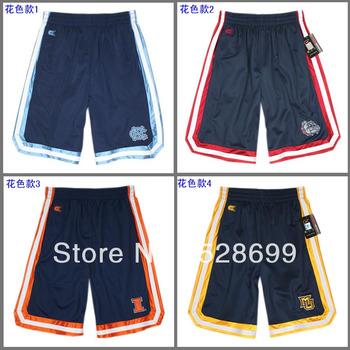 men Colosseum athletics dark blue ncaa basketball shorts quick-drying sports shorts