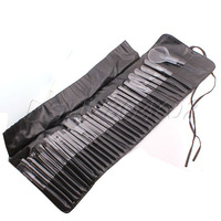 Hot Sale 32 Professional Cosmetic Brushes Makeup Kit With Soft Leather Case Protable Kit