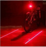 2pcs/Lot Bicycle Cycling Laser Tail Light (2 Laser + 5 LED) Bike Safety Light bicycle lights laser Free Shipping Dropshipping