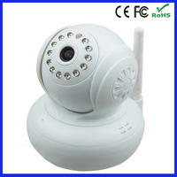 New PNP White Dual Audio Wireless/Wired CCTV Camera Wi-Fi IR Pan Tilt Home Security IP Camera JW0004 Baby Monitor Remote Watch