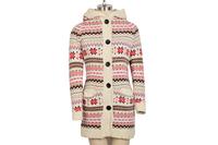 free shipping#Women Knitwear Thick Winter Hooded Cardigan Coat Loose Sweater Fleece Lined Tops