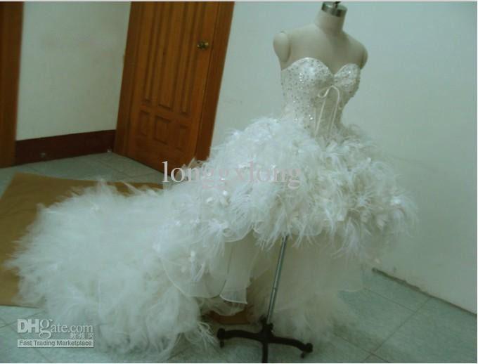 Best Best Sale A line High-low Actual Images By Famous Designer Bridal Dresses Wedding Dresses GXG178()