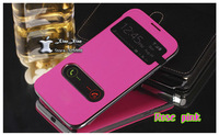 Top quality Original View flip leather back cover cases open window battery housing case for samsung galaxy Note2 Note 2 N7100