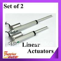 "Set of two Linear actuators, 6"" Stroke, 12V, 150mm stroke,750N push load actuator linear"