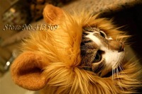 Free Shipping Amusing Lion's Mane Cat Hat Stuffed & Plush Toy Lion's Mane Hat Pet Cloth For Cats Dogs