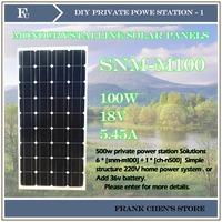 the solar battery, 100W Solar Panels, Small Solar Panel Power Supply System ,solar power