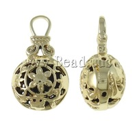 Free shipping!!!Zinc Alloy Hollow Pendants,Top Selling, Vase, gold color plated, nickel, lead & cadmium free, 17.50x31x14mm