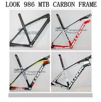 Wholesale!2015 LOOK 986 E-Post carbon bike bicycle frame Mountain bike 26ER/29ER MTB bicicleta carbon frame with stem,size S/M/L