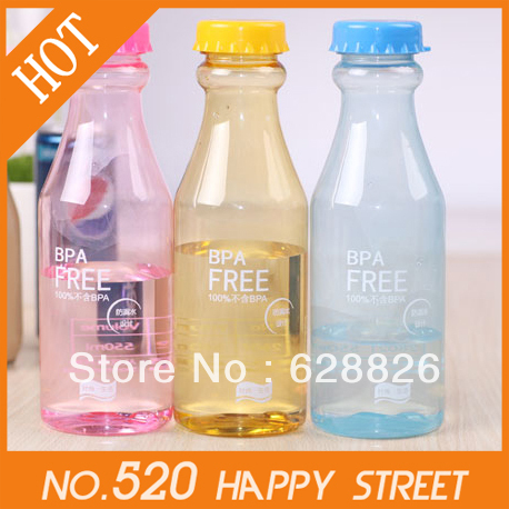 Free shipping!Portable leakproof drink bottles(Small),Unbreakable water bottles,Fashion bottles,6Colors to choose,Wholesale(China (Mainland))