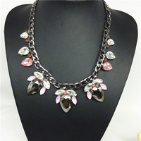 Brand Jewelry Glass Crystal Vintage Necklaces & Pendants Choker Necklace Chunky Statement 2014 Fashion Necklaces For Women