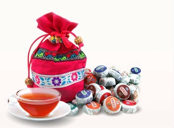 B00362 Freeshipping  Hot,Chinese tea 50pieces/bag Different Flavors Yunnan Puer Tea Mini Puer tea,with a gift bag