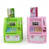Novelty MINI ATM/cash deposit machine Toy Digital Coin Saver Money Box saving piggy bank kids gift
