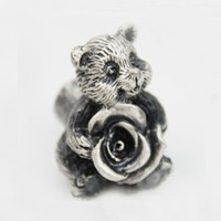 New classical European contracted style cupboard door drawer knobs ancient silver furniture handle/baby panda pulls