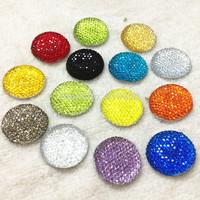 Free Shipping! DIY Jewelry  Accessories 25mm Round Resin Flatback Rhinestones,100pcs/lot Random mixed colors