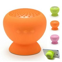10PCS Mini protable Bluetooth Speaker Wireless colorful Mushroom Suction-cup speakers with mircophone calls Handsfree free DHL
