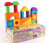 Apostle EVA baby soft building blocks multicolour soft Eco-friendly soft foam security foam building blocks