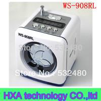 5pcs Ws-908rl mini speaker audio insert card speaker charge mp3 player usb flash drive band fm radio