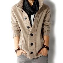IDGIRL Brand 2014 brand men's sweater real wool cotton men's sweater men's coat wool coat cardigan man Free Shipping L0154()