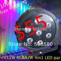 10pcs/lot,7 pcs x 12W RGBA/RGBW 4in1 Mega Quad LED Par Light DMX LED Stage Lighting