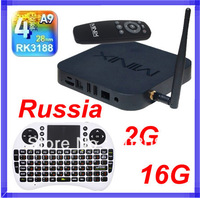 Rii i8 Russian keyboard Air Mouse + MINIX NEO X7 RK3188 Mini pc Quad Core android 4.2 tv box RJ45 XBMC 2G/16G SD Card