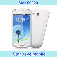i8190 Mini s3 9300 4.0 inch Android 4.1 3G Smart Phone MTK6577 Dual Core 1GHz WiFi GPS Free shipping