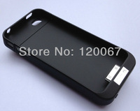 2100mAh Power Pack External Charger Backup Battery Case Cover For iPhone 4G 4 4S Black White Free Shipping