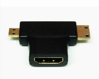 New 3-in-1 1080p HDMI Female to Micro / Mini HDMI Male Adapter Connecter Type D C A Free Shipping 9657