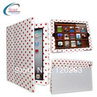 Polka Dots PU Leather Case for iPad mini,for iPad 2/3/4/5