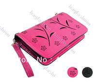 HOT!!! Fashion Trend Women's Day Clutch Hollow Out Flower Bag Leisure Handbag Retro Painting Chain Shoulder Bag 16146 F
