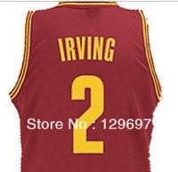 Fast  Free Shipping, Retail& Wholesales 2013 #2 Kyrie Irving Yellow/white/red  New fabric basketball jerseys,SIze44-56