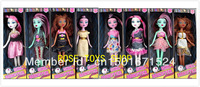 2013 Christmas gift Monster High dolls, 8pcs/lot,8style mix! 28cm highly ,Action figures ,The body moving with box Free shipping