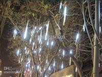 white EU style 30CM 18LED Meteor lamp christmas light Shower Rain Tube Lights Outdoor Tree