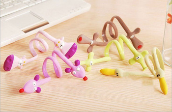 Free Shipping Q Series of cute Headphones Winder 10pcs/lot Animals Strip Coil Winder Novelty Items