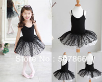 Free Shipping -2 Color New Girls Ballet Tutu Skirt Kids Party Leotard Costume Dance Skate Dress SZ 3-8Y