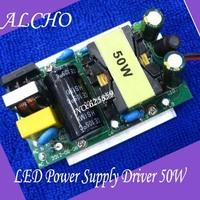 Free shipping LED Power Supply Driver 50W For 50Watt High power LED Light Lamp Bulb 85-265V