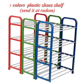 New 2014 Alloy+ABS 4 Layers shoe rack shelf  Vertical Combination shoe storage hanger Holder shoes organizers SN0100A