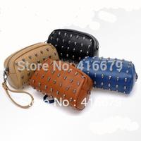Rivet skull bag wallet shoulder bag day clutch mobile phone bag mini bag women's handbag