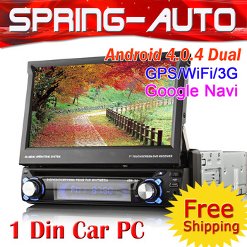 "FREESHIPPING Hot sell One din Android 4.0 CAR pc multimedia radio dvd gps 8300A 7"" Screen A8 1G Mhz ,DDR3 512M Analog TV IPOD"