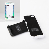 Free shipping Ultra Thin 3000mAh External Power Bank Battery Backup Charger Case Cover for iPhone 5 5S