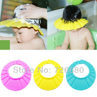 Free Shipping! Shower Cap Protect Shampoo Bathing Waterproof Caps Child Kid Children Wash Hair Shield Hat 126-0501