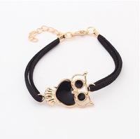 (Min Order $10+Gift)Free Shipping!On Sale!Wholesale Bracelet/ Korean Cute Owl Dropping Oil Bracelet 99048