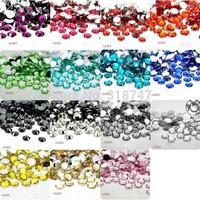 Free shipping 1440pcs ss16 Mix 15Color FlatBack Resin Stone Nail Art Rhinestones Glitters Nail Art Gems Decoration 007005(46)