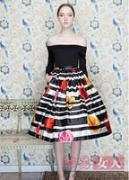 2013 Fashion Elegant Ball Gown Flower Print Women Party Dress